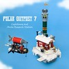 Polar Outpost 7 (ted @ndes) Tags: winter sky lighthouse snow cold rock lego floating hut airship minifig snowbank steampunk