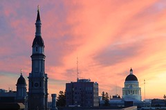 And I can't see today, And I can't see tomorrow (mrperry) Tags: california sunset sky colors dome sacramento californiastatecapitol downtownsacramento capitoldome sunsetcolors cathedraloftheblessedsacrament