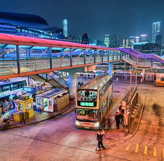 Reading by Headlights (hugociss) Tags: china bus station by ferry island reading pier centre headlights exhibition hong kong convention kowloon 104 wanchai 500px