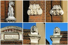 Details on a pub that's now closed. I can't make out it's name though. (maggie jones.) Tags: london nw6 kilburn brent lion 1896 dog face man ugly king stone carving