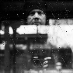 Self (Martin Gommel) Tags: street blackandwhite bw selfportrait water rain contrast self germany sw schwarzweiss karlsruhe kontrast selbstportrait 1x1 quadrat quadratisch img9025