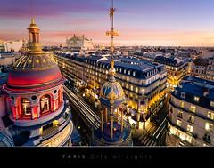 Paris, city of lights (Beboy_photographies) Tags: sunset paris france twilight lumière soir opéra garnier toit crépuscule église hdr ville coupole toits