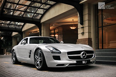 Argentum (anType) Tags: sports car silver germany asia exotic german malaysia mercedesbenz kualalumpur luxury coupe supercar v8 sls sportscar amg gullwingdoors worldcars