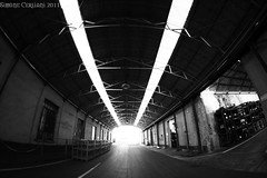 Industrial activity #3 (OBITORY) Tags: bw industry iron industrial factory mechanical top steel machine structure fisheye industria forklift officina fabbrica struttura capannone maccanica