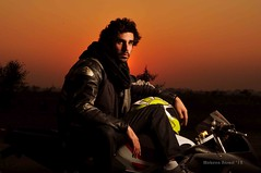 Moin Khan, the man who rode from US to Pakistan (Mobeen_Ansari) Tags: pakistan sunset usa america biker khan lahore moin nikond90