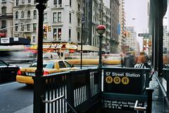 57 street station (aridleyphotography.com) Tags: city nyc newyorkcity travel usa newyork motion film america 35mm subway manhattan taxi midtown yashica yashicaelectro35 yashicaelectro35gx kodakektar100
