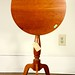 224. Antique Cherry Tilt Top Table