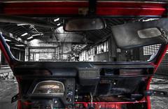 Schindler's 2CV (Jeff Schulpen) Tags: red bw reflection abandoned broken window glass car speed canon skull mirror factory decay citroën tokina 2cv 28 dashboard gauge 1116 50d