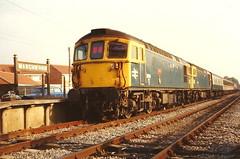 British Railways Class 33/1s 33114' Sultan' & 33102 - Marchwood (dwb transport photos) Tags: diesel railway locomotive sultan crompton britishrailways marchwood 33114 33102