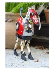 Red Rover (Tinkerbots) Tags: red sculpture dog make vintage toaster antique assemblage critter retro scifi comiccon redrover danjones tinkerbots