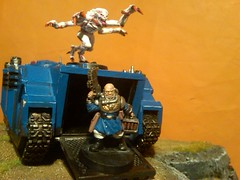 Muhahahah!!!!! xD (ConnanXIII) Tags: rhino spacemarines warhammer40k gamesworkshop tyranid ultramarines genestealer