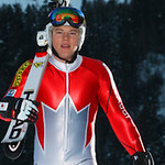 Ben Thomsen and fellow CAST racers will tackle the legendary Hahnenkamm downhill on Saturday in special-edition red and silver speed suits designed by sponsor Audi Canada PHOTO CREDIT: Alpine Canada