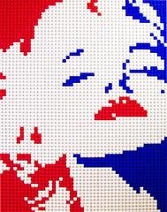 """Marilyn 15""""x20"""" (Dave Shaddix) Tags: portrait lego mosaic marilynmonroe"""