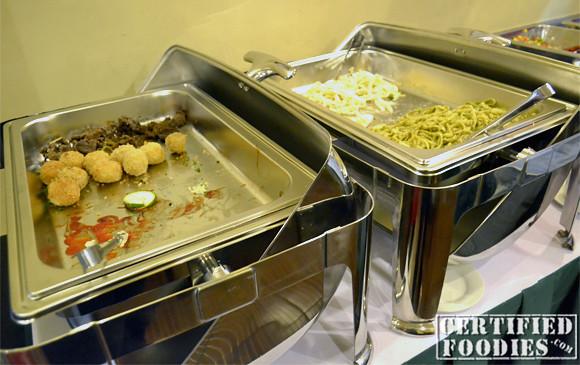 Beef Salpicao, Croquettes, pasta