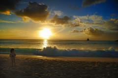 Sunset girl, St Maarten (Ballygrant Boy) Tags: sea sky beach boat nikon waves tide shore caribbean stmaarten 24120vr d700 micarttttworldphotographyawards micartttt michaelchee