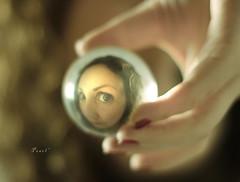 I n d i r e c t (.OhSoBoHo) Tags: selfportrait me canon dof bokeh moi io pearl mam crystalball selfie canon50mm creativeselfportrait mise canoneos40d ohsoboho meagainmonday