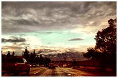 After the Strom (Thomas R. Cordova) Tags: california road ca winter usa snow ontario mountains cold water car photography photo losangeles calif photograph strom cloudes