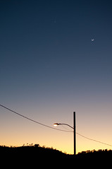 Gorgeous Sunset - Venus and Crescent Moon (redteam) Tags: park winter sunset moon washington los mt venus angeles side crescent east mtwashington mount cypress eastside cypresspark