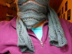 DSCN0323 (Malroy) Tags: knitting yarn knitty quiviut awesomesauce windyvalleymuskox laceribbonscarf quiviuk