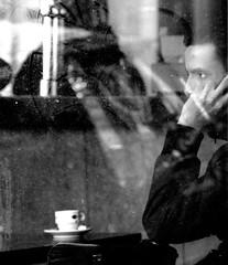 paris (hansvandenberg30) Tags: blackandwhite man black paris france eye window cafe homme wow1 newphotographers hansvandenberg 123blackandwhite
