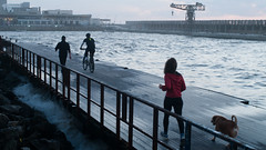 IMGP1057 (Doc Oren) Tags: people port pier pentax tel aviv running jogging k20d