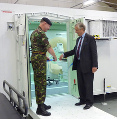 Handover of the deployable CT scanner to the UK MOD by Sir Michael Marshall