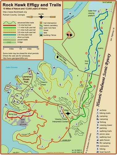 Rock Hawk Trail map