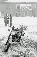tan_hill_4 (silectric) Tags: winter england snow 1982 pub closed durham yorkshire hill border motorcycle 1983 mz highest