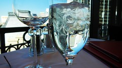 Short on Wine but Long on Ice Water (merriewells) Tags: reflections glasses wine icewater