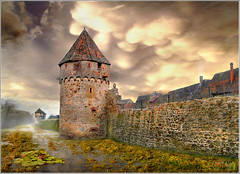 The cat and the owl (Jean-Michel Priaux) Tags: france tower castle art history rock wall architecture fairytale photoshop garden landscape rocks village jardin alsace fortification paysage protection hdr patrimoine patrimony bergheim priaux mygearandme ringexcellence flickrstruereflection1