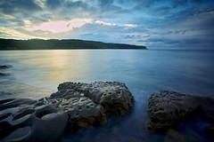 Pocked... (James.Breeze) Tags: ocean longexposure sunrise canon rocks waves meetup harbour jetty sydney laperouse bareisland canonef1740mmf4l jamesbreeze