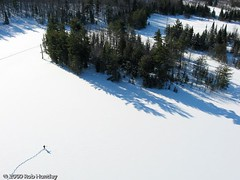 Hiking across Fortune Lake - Kite Aerial Photography (KAP) (Rob Huntley Photography - Ottawa, Ontario, Canada) Tags: photography photographie quebec hiking aerialview aerial backpacking gatineau snowshoeing hunter kap untouched aerialphotography gatineaupark kiteaerialphotography desolation pristine aérienne aerialphotograph huntley aerienne kitephotography photographieaérienne photographieaerienne fortunelake robhuntley robhuntleyphotography