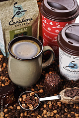 Caribou Coffee [5/?] (Fahad Al-Robah) Tags: cup coffee beans chocolate spoon announcement          carpibo