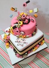 Licorice Allsorts Birthday Cake