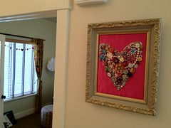 jewelry heart, framed