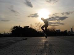 That Spot (708718) Tags: japan tokyo asia skateboarding odaiba rainbowbridge charleslamb nollieflip ianreid