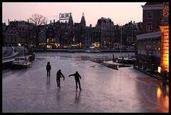 Ice evening (anikita_) Tags: winter sunset people cold ice dutch amsterdam evening outdoor sneeuw natuur tradition activity gezellig dutchwinter ijs schaatsen koud ijsplezier