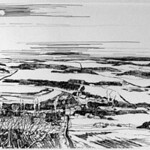 "<b>Winter Reverie (Study)</b><br/> Douglas A. Eckheart (1994-) ""Winter Reverie (Study)"" Ink, ca. 1994 LFAC #1997:08:08<a href=""//farm8.static.flickr.com/7171/6852456343_26255f5c50_o.jpg"" title=""High res"">∝</a>"