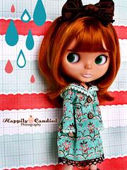 Plum's Birthday Pressies (Happily Candied) Tags: birthday cute love doll plum jacket gift bow kawaii blythe rare 6thbirthday pressies bl kozy kozykape mabgraves jessibryan