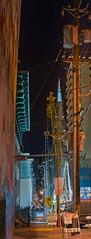 construction of the chinatown subway station on washington street (pbo31) Tags: sanfrancisco california panorama orange color station yellow night project march site spring construction nikon chinatown crane large panoramic muni transamerica stitched washingtonstreet 2014 centralsubway d700 sfmta