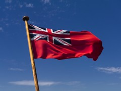 red ensign (friendlydrag0n) Tags: blue red sky flag navy duster british naval ensign