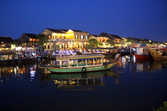 Hoi An by night (Bex.Walton) Tags: travel night river lights vietnam hoian lanterns oldtown