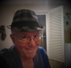 May 07, 2016 (286/365+3) (gaymay) Tags: california gay love hat glasses desert palmsprings blinds selfie