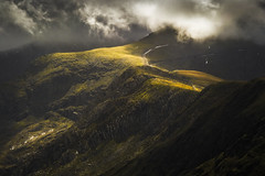 The Slopes of Snowdon (Vemsteroo) Tags: travel light mountain snow storm mountains nature beautiful wales outdoors exploring dramatic glorious snowdon llanberis snowdonia quarry connection slopes mountainscape northwales circularpolariser dinorwig 40150mm cloudly beautyinnature