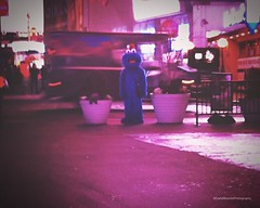 (Carly Miranda Photography) Tags: newyorkcity winter urban newyork night digital outdoors costume nikon december character streetphotography timessquare sesamestreet urbanphotography nikonphotography