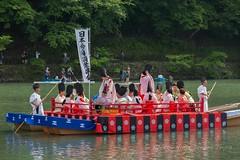 Imperial Boating Party in Arashiyama: Mifune Matsuri. (KyotoDreamTrips) Tags: kyoto arashiyama 嵐山 bugaku 舞楽 車折神社 宇多天皇 三船祭 emperoruda kurumazakishrine 船遊び mifunesai