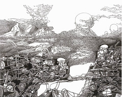Alexey Adonin  Habitable Planet, 2008. Drawing: Pen and ink on paper. SurrealLandscapeFantasy (ArtAppreciated) Tags: art ink painting landscape drawing contemporary surrealism fineart surreal blogs fantasy artists mysterious fi dreamlike israeli futuristic sci scapes dreamscape 2000s alexey artblogs tumblr artoftheday artofdarkness date2008 adonin artappreciated artofdarknessco artofdarknessblog
