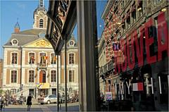 Htel de Ville, Huy, Province de Lige, Belgium (claude lina) Tags: reflections belgium belgique reflets huy provincedelige claudelina hteldevilledehuy
