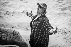 The Shawshank Redemption (darren.cowley) Tags: blackandwhite beach monochrome santabarbara pose sand candid character californian moviescene theshawshankredemption