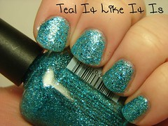 Piggy Polish Teal It Like It Is (PuckLizardRN) Tags: glitter teal nailpolish piggypolish